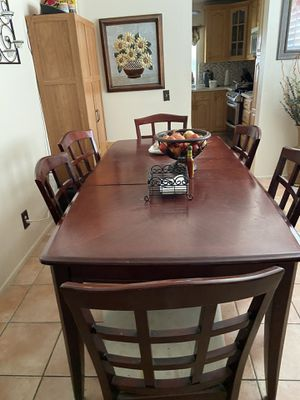 I'm selling my dining table I need it gone I bought a new one I need the space it need to be clean and tight the screws on the chairs only 75.00 for Sale in Riverside, CA