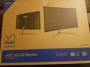 "Selling AOC 32"" curved monitor for Sale in Lindsay, CA"
