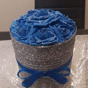 Blue/Silver Rose Box for Sale in Peoria, IL
