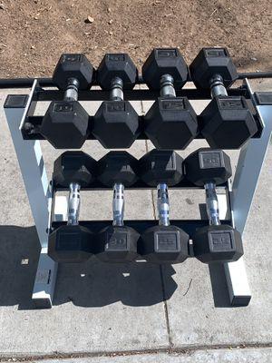 Dumbbell Set & Rack for Sale in National City, CA
