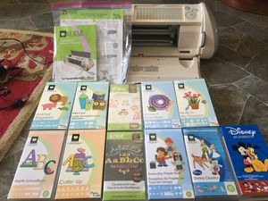 Cricut machine With 11 cartridges for scrapbooking for Sale in Upland, CA