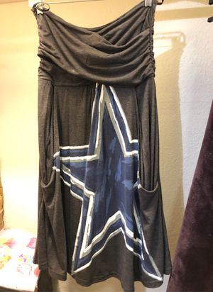 DALLAS COWBOY Sleeveless Drees with Pockets, Size large for Sale in Fort Worth, TX