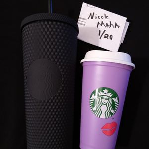 Matte Black Studded Tumbler And Color Change Lip Hot Cup for Sale in Gilbert, AZ