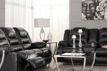 🌼SPECIAL] Vacherie Black Reclining Living Room Set for Sale in Greenbelt,  MD