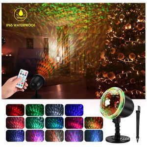 Ocean Wave Christma Projector Lights, WOSTOO 2-in-1 Decoration Water Wave Projector 16 Slides Patterns 10 Wave Colors with Remote Control, Waterproof for Sale in Queens, NY