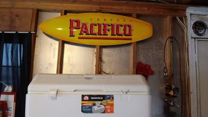 Pacifico surfboard beer sign for Sale in Denver, CO