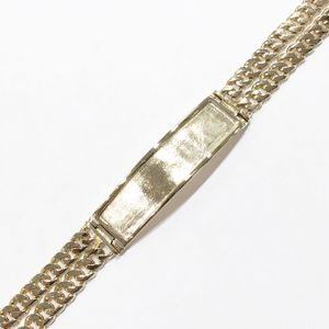 "14K Yellow Gold Man's Double Cuban Link ID Bracelet, Size: 8"" **Great Buy** 10011884-1 for Sale in Tampa, FL"