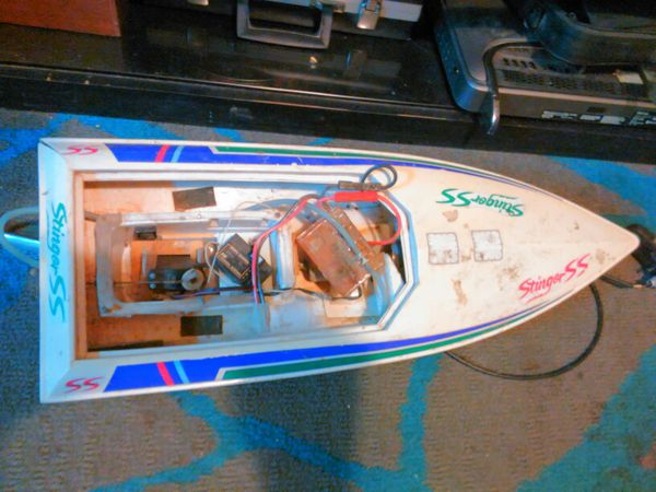 RC boat for parts