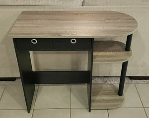 New Grey & Black Desk with Shelving and Storage Bins for Sale in Beaumont, CA