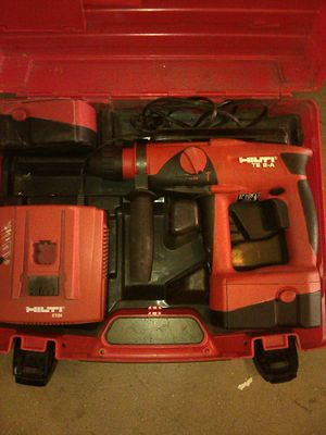 HILTI hammer drill cordless & 2 battery & charger + tip for Sale in Los Angeles, CA
