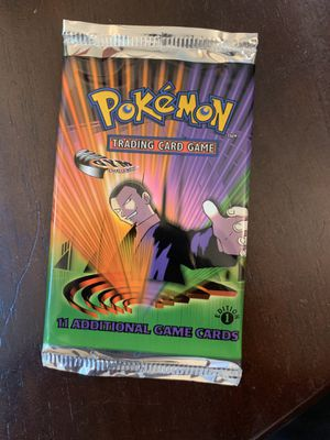 First edition Pokémon gym challenger booster pack for Sale in Fremont, CA