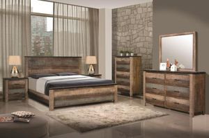 (JUST $54 DOWN) Brand New Beautiful Rustic Queen Bedroom Set (Financing and Delivery available) for Sale in Carrollton, TX
