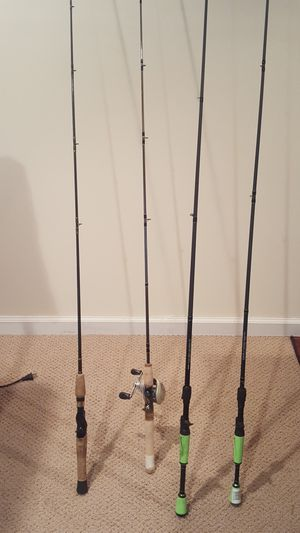 Quality Bass Pro and Lew's fishing rods for Sale in Weldon Spring, MO