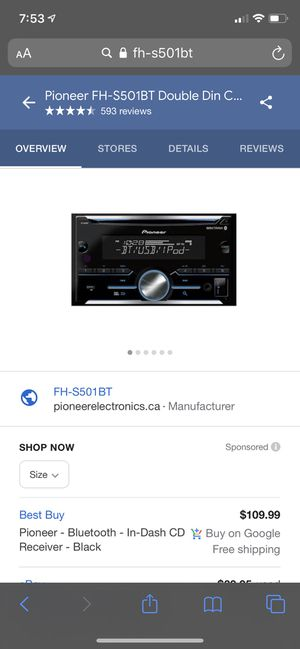 Pioneer - Bluetooth - In-Dash CD Receiver - Black, car stereo, used a few hours for Sale in Lexington, KY