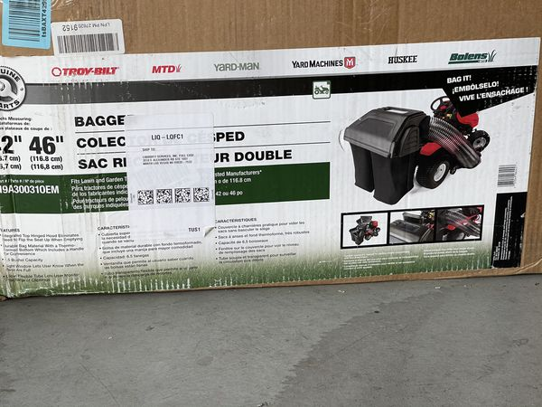 MTD 19A30031OEM Parts-42 in. and 46 in. Double Bagger for Riding Lawn Mowers (2010 and After)
