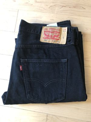 Levi's 501 men's jeans black 33/32 for Sale in McLean, VA