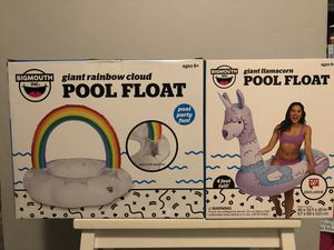 $20 for this 2pcs of Pool float bundle it's all brand new and pick up Gahanna for Sale in Gahanna, OH