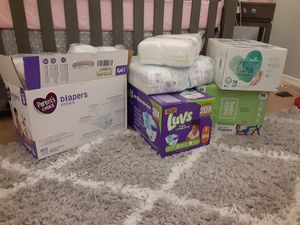 Diapers from newborn to size 3 for Sale in El Paso, TX