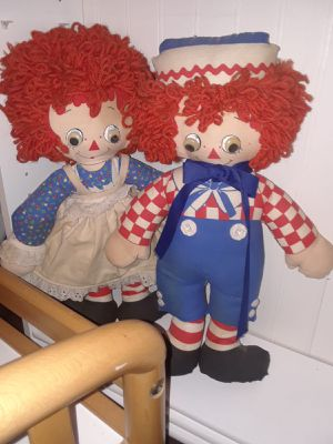 Raggedy Ann and raggedy Andy collector dolls for Sale in Rodeo, CA