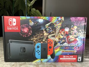 NEW Nintendo Switch MarioKart Deluxe Bundle Console + Game + Online for Sale in Miami, FL