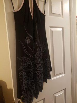 Black sequin seed bead cocktail dress sz med by Lipstick for Sale in Knightdale, NC