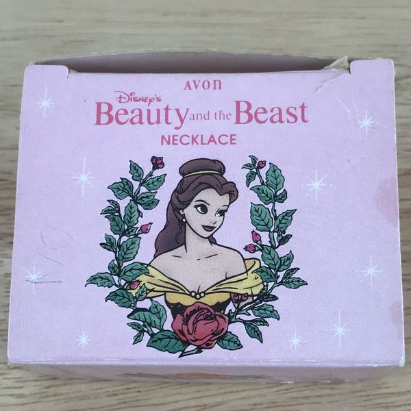 """Disney Avon Beauty and the Beast Belle Necklace 15"""" round Child's"""