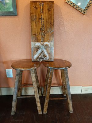 Home made WELCOME SIGN and 2bars stools for Sale in Carrollton, TX