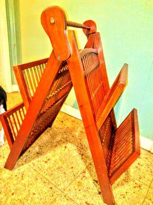 Wooden magazine rack for Sale in Corpus Christi, TX