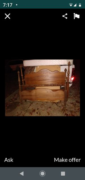 Full size vintage bed with rails for Sale in Greensboro, NC