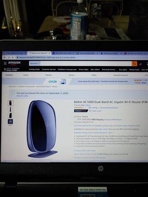 Wireless Router Belkin AC1600 for Sale in Dallas, TX