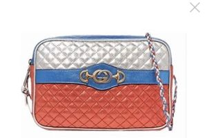 Gucci Trapuntata Metallic Quilted Shoulder Bag Red/blue for Sale in Rockville, MD