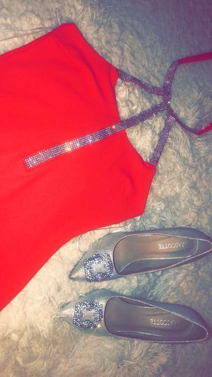Be the life of the party in this dress and these heels!! Dress size small stretchy and heels 7.5 for Sale in Aurora, CO