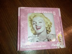 Collectible Marilyn Monroe Glass Coasters for Sale in Fort Worth, TX