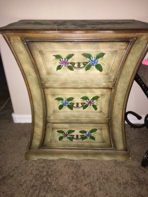Hand painted vintage Shabby chic dresser end table for Sale in Phoenix, AZ