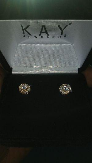 10k diamond earrings 50 pointers for Sale in Detroit, MI