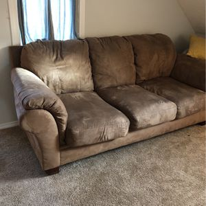 FREE Comfy Microsuede Couch/Sofa for Sale in Portland, OR