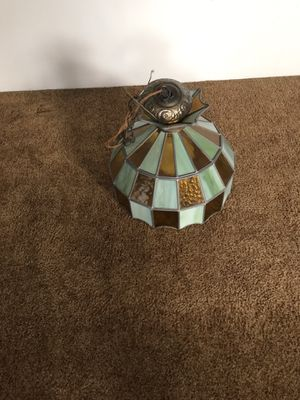 Leaded Green wired Chandelier (19 inch diameter x 14 inch height) for Sale in Monroeville, PA
