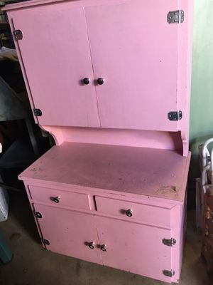 Pink desk/secretary/cabinet for Sale in Vista, CA