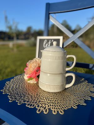 Mug and kettle Tea or coffee for one- porcelain- teacher gift. Sweet gifts valentines day gift for Sale in Kissimmee, FL