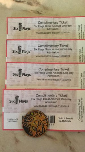 Six Flags ticket for fear fest for Sale in Melrose Park, IL