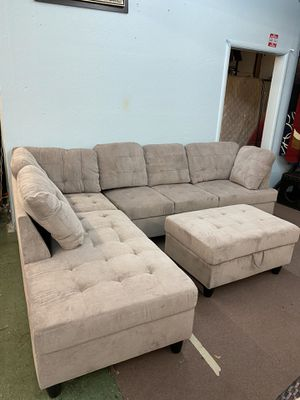 🚚Short Sale🚚 Brand New 2pc Sectional with Ottoman $899, Finance available for Sale in Sacramento, CA
