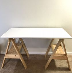 Handcrafted Modern Trestle Table for Sale in Lynnwood,  WA