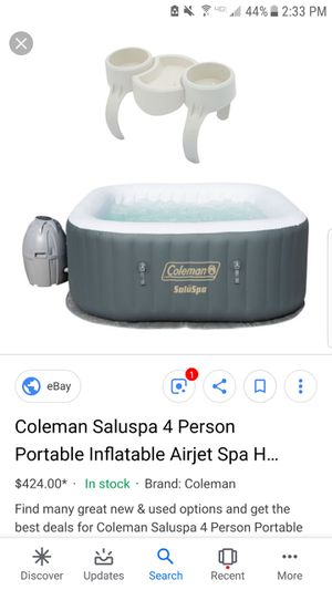 Coleman saluspa inflatable spa hot tub for Sale in Atco, NJ