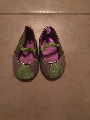 Girls Tinkerbell shoes 12-18 mo for Sale in Orange, CA