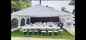 Party tents, clean chairs and tables for Sale in Dallas, TX