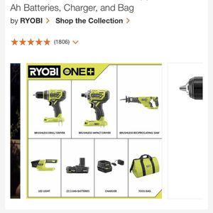 Power Tools 18V 6 Piece Set RYOBI for Sale in Mesa, AZ