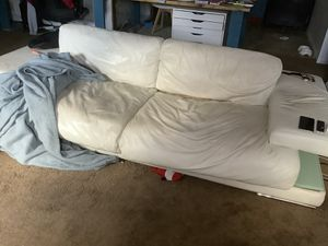 Free white couch, sofa. It needs to be clean and it has a rip that can be fixed. Will not deliver. Free to pick up from living room. for Sale in Norcross, GA