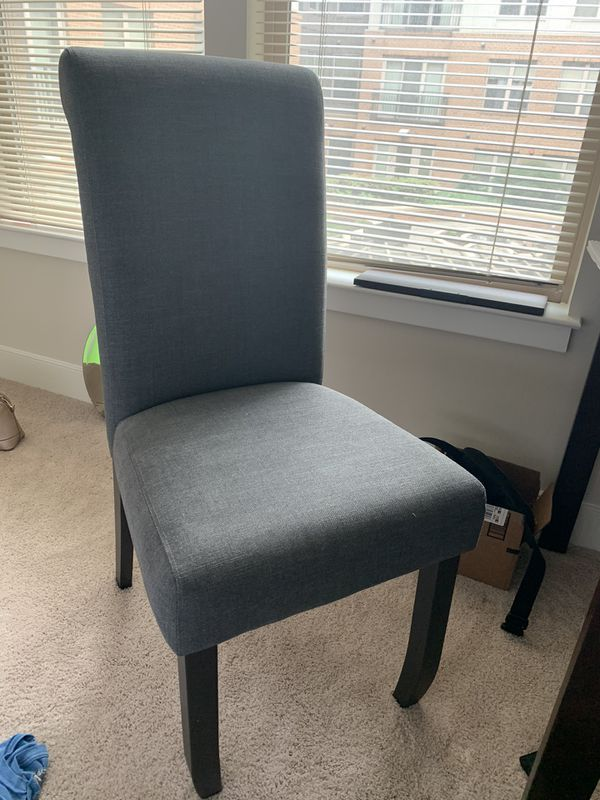 Comfortable grey desk/dining chair