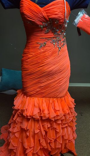Dress New Coral Mermaid Party Prom Wedding Gown for Sale in Dearborn, MI
