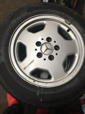 Three wheel and tires/AMG/195/65R15 for Sale in Hyattsville, MD
